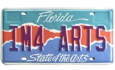 """One way to support arts in Florida is the """"State of the Arts"""" license plate."""