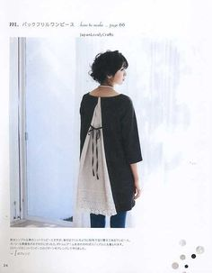 Good idea for extending size on a top--One Piece & Tunic  Japanese Sewing Pattern book