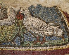 Roman mosaic birds