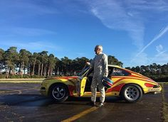 """Last but not least my favourite moment of 2016 has to be reuniting Gerard Larrousse with the car he drove to 3rd place overall in the 1970 Tour de France. He came over to see the car after we'd restored it and spent a day driving it """"hard"""". He said after the day he was """"so happy to drive the car again, and felt he left it just a few days ago"""" Great words from a true gentleman and legend! Happy new year all and can't wait to see what 2017 will bring #larrousse #911st"""