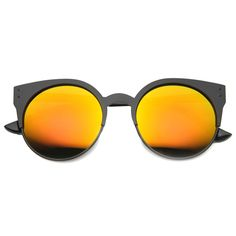 f7059363dc6 Women's Round Metal Cat Eye Revo Lens #Sunglasses Half Frame Glasses, Round  Metal Glasses