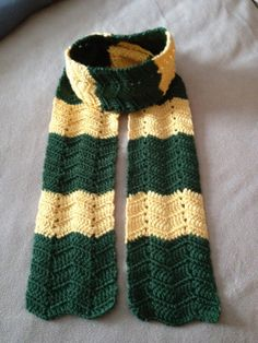 Green Bay Packer Inspired Chevron Scarf by DeAnnsDesigns2189, $20.00