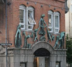 Very unique facade on a Copenhagen building