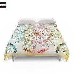 Duvet Cover Decorative Colorful Mandala mandala duvet by Famenxt