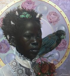 Harmonia Rosales - 4 Artworks, Bio & Shows on Artsy Portraits, Portrait Art, African American Art, African Art, Black Women Art, Black Art, Afro Art, Pretty Art, Female Art