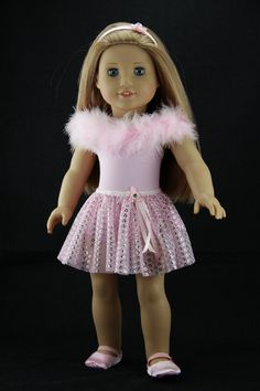American Girl doll clothes  Pink 3 piece by DolliciousClothes