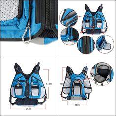 Fly Fishing Backpack and Vest Combo Waterproof Bag Multifunctional Adjustable #Ilure