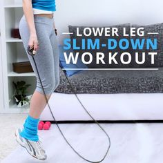 No more cankles!  Do the Lower Leg Slim-Down Workout for toned calves and ankles. #anklesworkout #calvesworkout