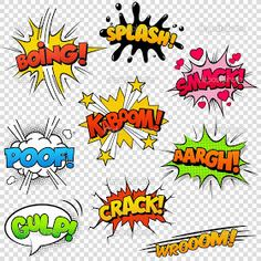 Comic Sound Effects stock vector. Illustration of cartoon - .- Comic Sound Effects stock vector. Illustration of cartoon – 37618771 Comic Sound Effects Image – Image: 37618771 - Letras Comic, Bd Pop Art, Comic Sound Effects, Comic Art, Comic Books, Arte Pop, Image Comics, Superhero Party, Art Plastique