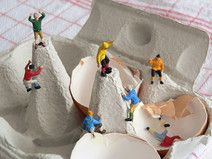 Gipfelstürmer – Foto auf Holz