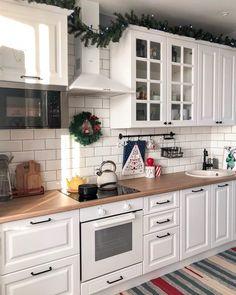 Kitchen Room Design, Diy Kitchen Decor, Kitchen Cabinet Design, Modern Kitchen Design, Interior Design Kitchen, Apartment Interior, Home Kitchens, Kitchen Remodel, Diy Décoration