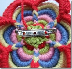 Sew a pin to the back of your flower. Put your flower on your jacket or your bag or your hat or…