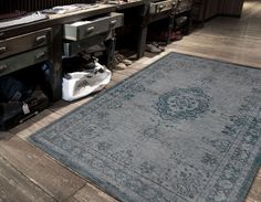 Fading World - Grey Turquoise Large rugs for living rooms and bedrooms from Louis de Poortere. Fading World collection uses a vintage style with rich but faded colours. Carpet Runner, Rug Runner, Turquoise Rug, Oriental Design, Oriental Rug, Machine Made Rugs, Buy Rugs, Indoor Rugs, Large Rugs