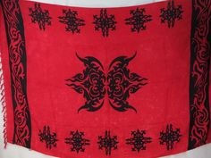 tattoo primitive design red sarong discount fashion apparel $5.25 - http://www.wholesalesarong.com/blog/tattoo-primitive-design-red-sarong-discount-fashion-apparel-5-25/