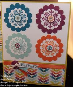 Madison Avenue stamp set using scallop circle punches