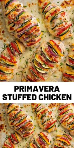 This is the opposite of boring flavorless chicken breast It s literally packed with colorful flavor chickenrecipes dinner food easyrecipes cooking # Healthy Chicken Recipes, Cooking Recipes, Stuffed Chicken Recipes, Roast Chicken And Gravy, Saveur, Quick Meals, Dinner Recipes, Main Meal Recipes, Game Recipes