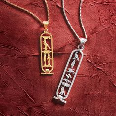 Personalized Egyptian Cartouche Pendant - Silver | National Geographic Store