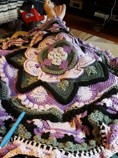 Mandala Madness - Free Pattern on Ravelry ... This one is by S. Grigartis