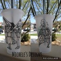 Starbucks Reusable Cup Beetlejuice Theme From Micheles Designs Starbucks Cup Art Reusable Cup Personalized Starbucks Cup