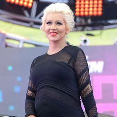 Pin for Later: Christina Aguilera Reveals Her New Baby Girl's Name!