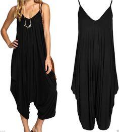 ew Ladies Cami Lagenlook Romper Baggy Harem Jumpsuit Playsuit Dress Plus  Size Combinaison Africaine, Combinaison d6b2665058d
