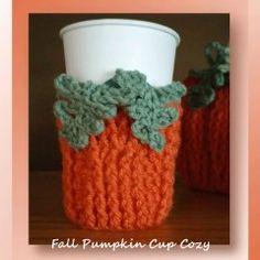 "I added ""Fall Pumpkin Cup Cozy - Free cup cozy pattern"" to an #inlinkz linkup!http://www.crochetmemories.com/blog/fall-pumpkin-cup-cozy/"