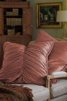 I adore these & they really layer in some great lines, richness & texture don't they?  Silk Provencal Euro Sham - Dupioni Silk, Shirred   Soft Surroundings