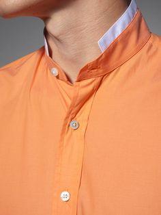 Cotton shirt with white trim Formal Shirts For Men, Casual Shirts, Men Shirts, Casual Outfits, Stylish Men, Men Casual, Best Clothing Brands, Boys Kurta, Mens Fashion Wear