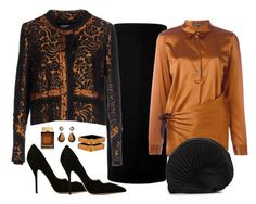 """""""Prada Embellished Blazer Look"""" by romaboots-1 ❤ liked on Polyvore featuring Victoria Beckham, Ann Demeulemeester, Prada, Paul Andrew, Alexis Bittar, Kastur Jewels, Issey Miyake and Dolce&Gabbana"""