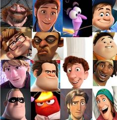 Todas as personagens femininas de animações Disney/Pixar da última década têm o mesmo rosto?