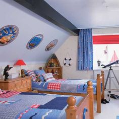 Boys Bedroom Ideas | with boat-shaped shelving | Boys' bedrooms | Boys' bedroom ideas ...