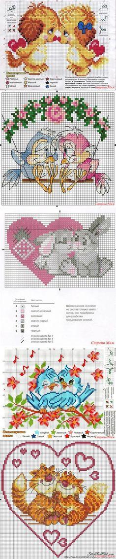 Вышивка крестиком. Любовь. - Клуб рукоделия - Страна Мам Stitch Patterns, Crochet Patterns, Bullet Journal, Diy, Punto De Cruz, Dots, Patterns, Needlepoint, Bricolage