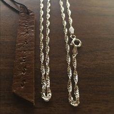 I just added this to my closet on Poshmark: Sterling silver 24 inches chain 925 necklace. Price: $30 Size: OS