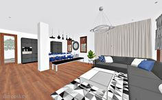 derecskey: Modern nappali - étkező - konyha