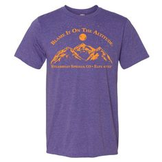 """STEAMBOAT SPRINGS, CO ELEV. 6732' Blame It On The Altitude """"BIOTA"""" Stylish T-Shirt"""