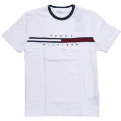 c1745fdb0a653 Tommy Hilfiger Mens Classic Fit Big Logo T-Shirt (Classic White