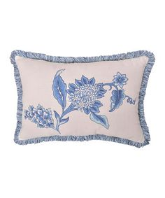 Love this Blue Persiana Medium Rectangular Throw Pillow by Royal Heritage Home on #zulily! #zulilyfinds
