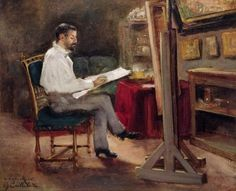 Gustave Caillebotte, The Artist Morot in his Studio, c.1874 on ArtStack #gustave-caillebotte #art