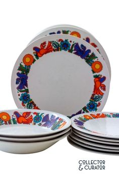 """Mixed Lot of """"Acapulco"""" Dishes from Villeroy & Boch Mid Century Modern Design, Mid-century Modern, Plates, Dishes, Tableware, Acapulco, Licence Plates, Dinnerware, Plate"""