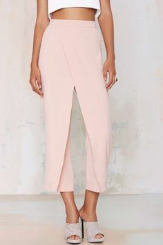Double Up Layered Trousers - Blush