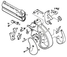 Пистолет Ремингтон Дабл Деринджер взрыв-схема (кликните по изображению, чтобы увидеть фото полного размера)