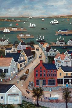 NANTUCKET HARBOR by capecodfolkart on Etsy, $45.00