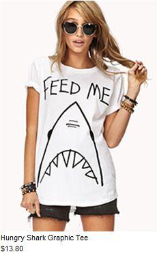 Awesome shark shirt;>