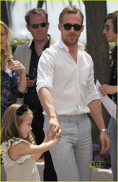 Ryan Gosling (I'm crushing big time on him, besides his physical beauty he seems like a genuinely good guy!)