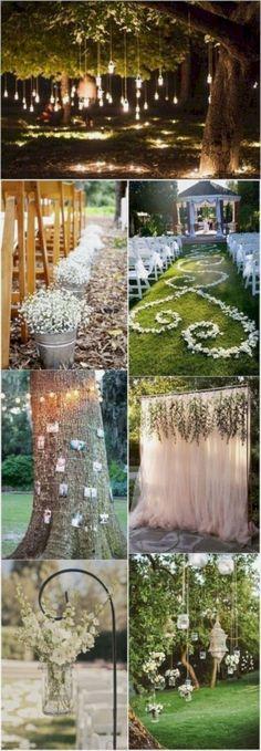 outstanding 17 Genius Outdoor Wedding Decoration Ideas