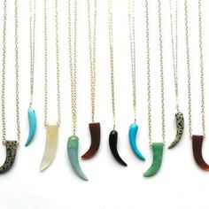 Carved Gemstone Pendant Necklaces by Elva Fields
