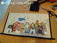 Pieces by Polly: Tutorial: Bias Tape Frames for Fabric Art Hand Painted Fabric, Fabric Art, Framing Fabric, Bias Tape, Native Art, Nativity, Frames, Painting, Nativity Sets