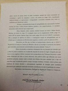 RN POLITICA EM DIA: EIS A SENTENÇA QUE CASSOU PREFEITA E VICE DE BARAÚ...