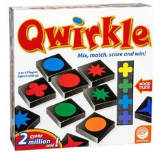 Qwirkle Game - this game is great for kids & grown ups. We're getting it for S. Little kids like playing with the tiles too.