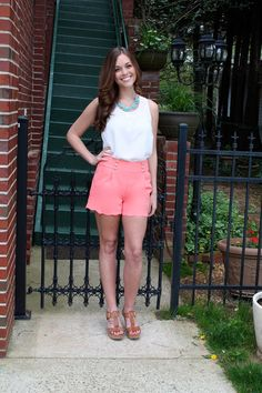 Off to Sea Shorts-Coral. Such cute shorts for summer and use the code blossom9287 for 10% off!